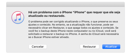 restar iphone inativo