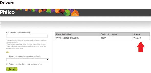 atualizar o firmware do televisor philco